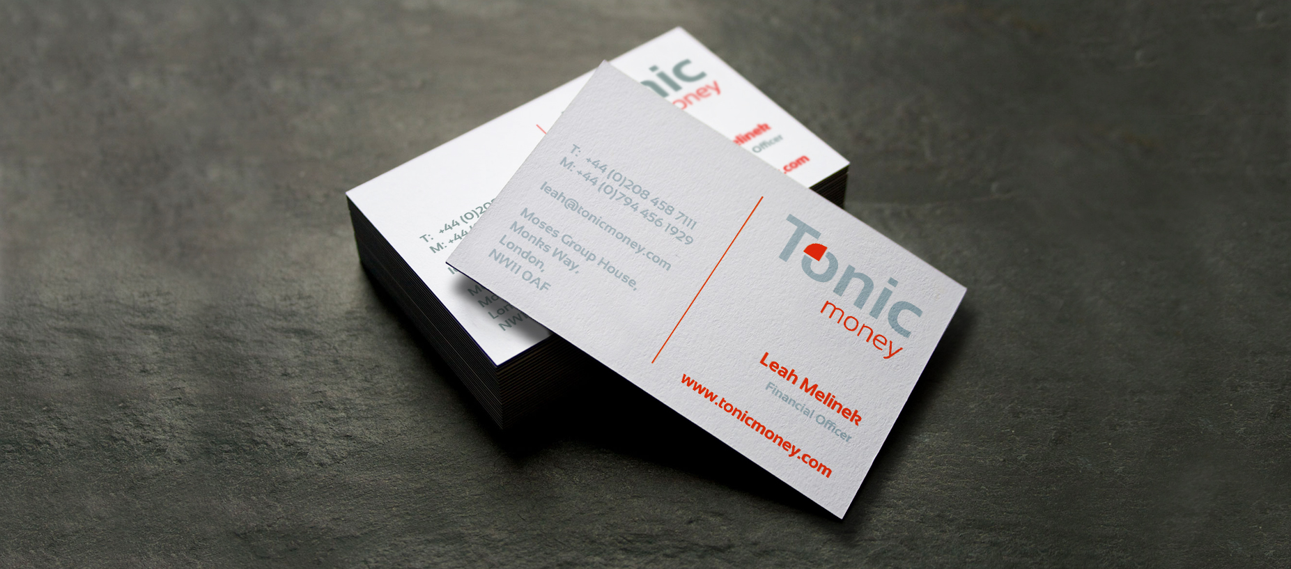 Branding Tonic business cards