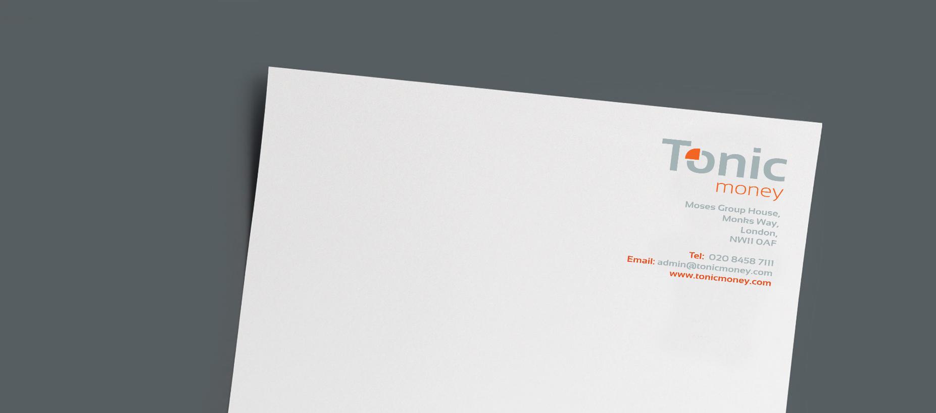Branding Tonic letterheads