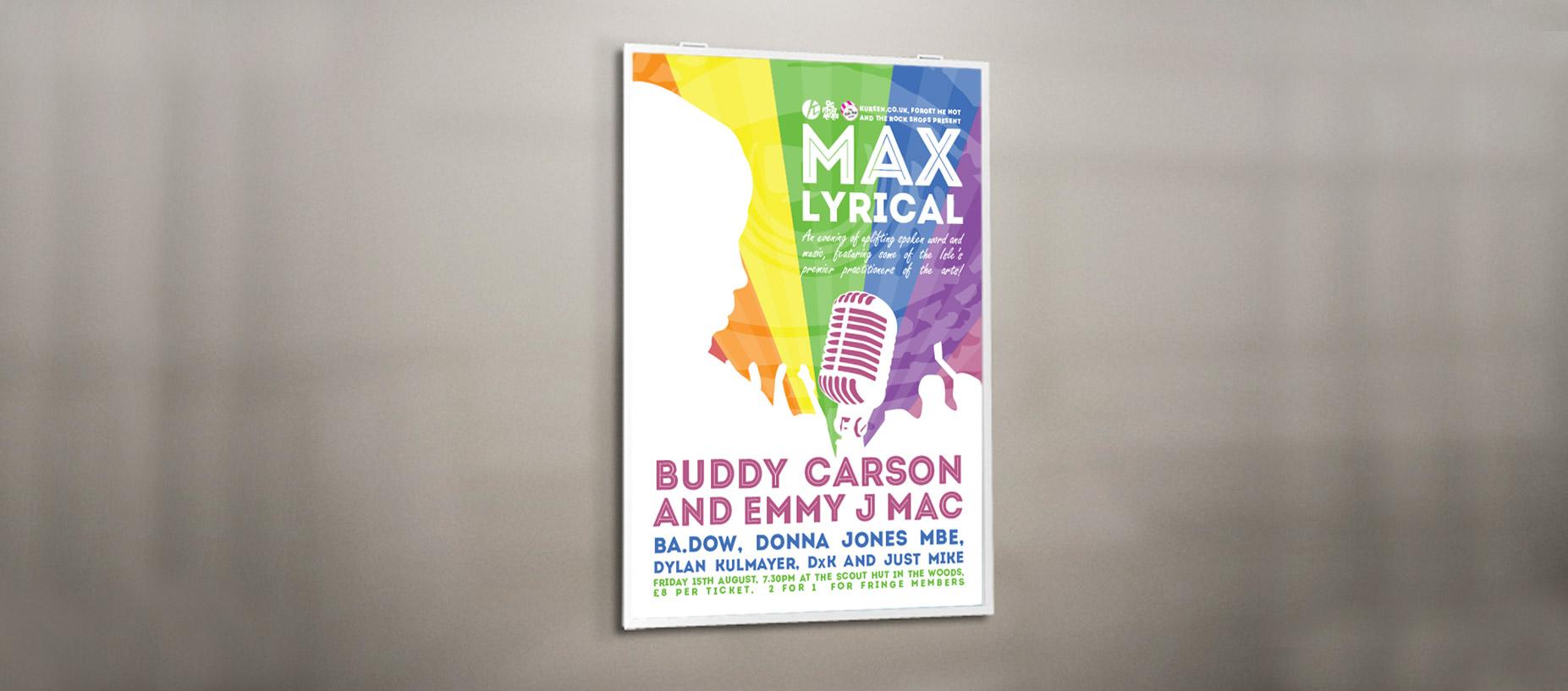 Max lyrical full poster design