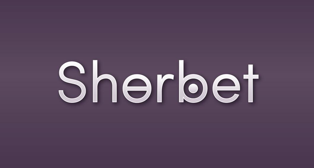 first sherbet logo design
