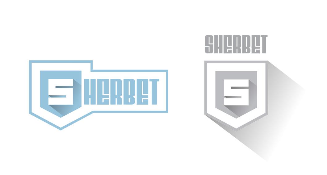sherbet logo concept variation
