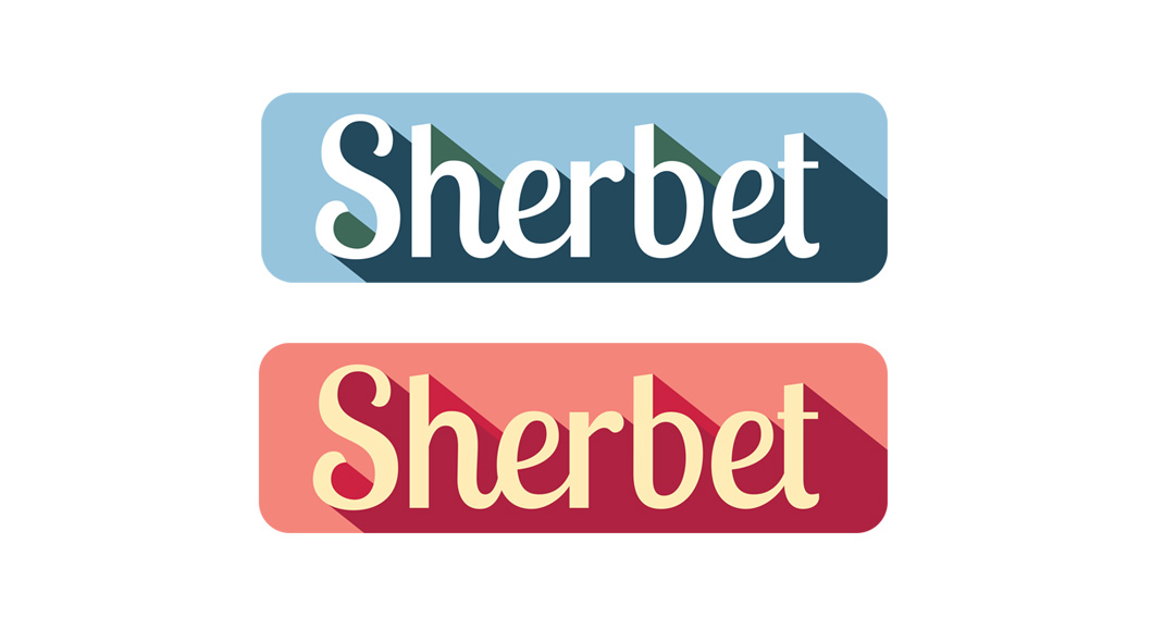 sherbet logo red and blue