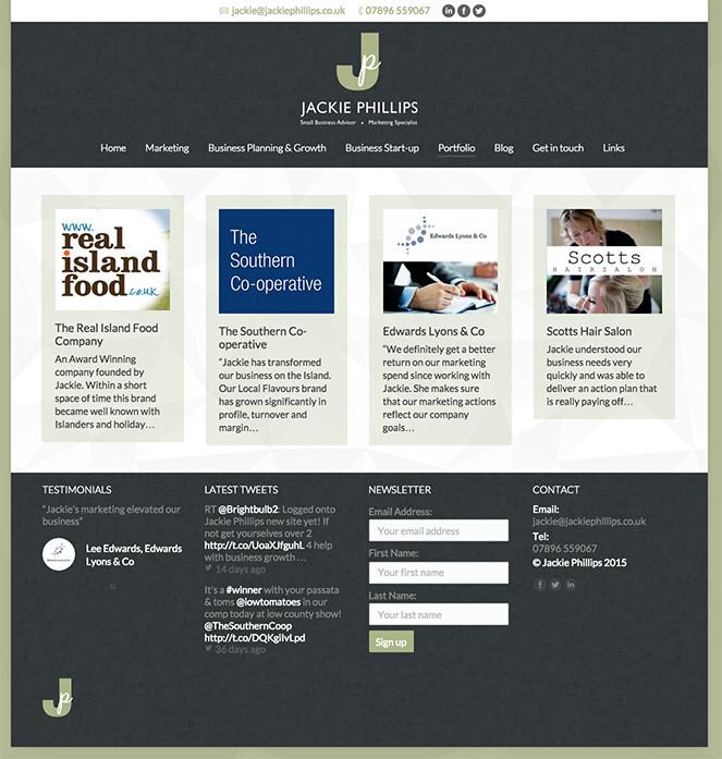 web design for Jackie Phillips