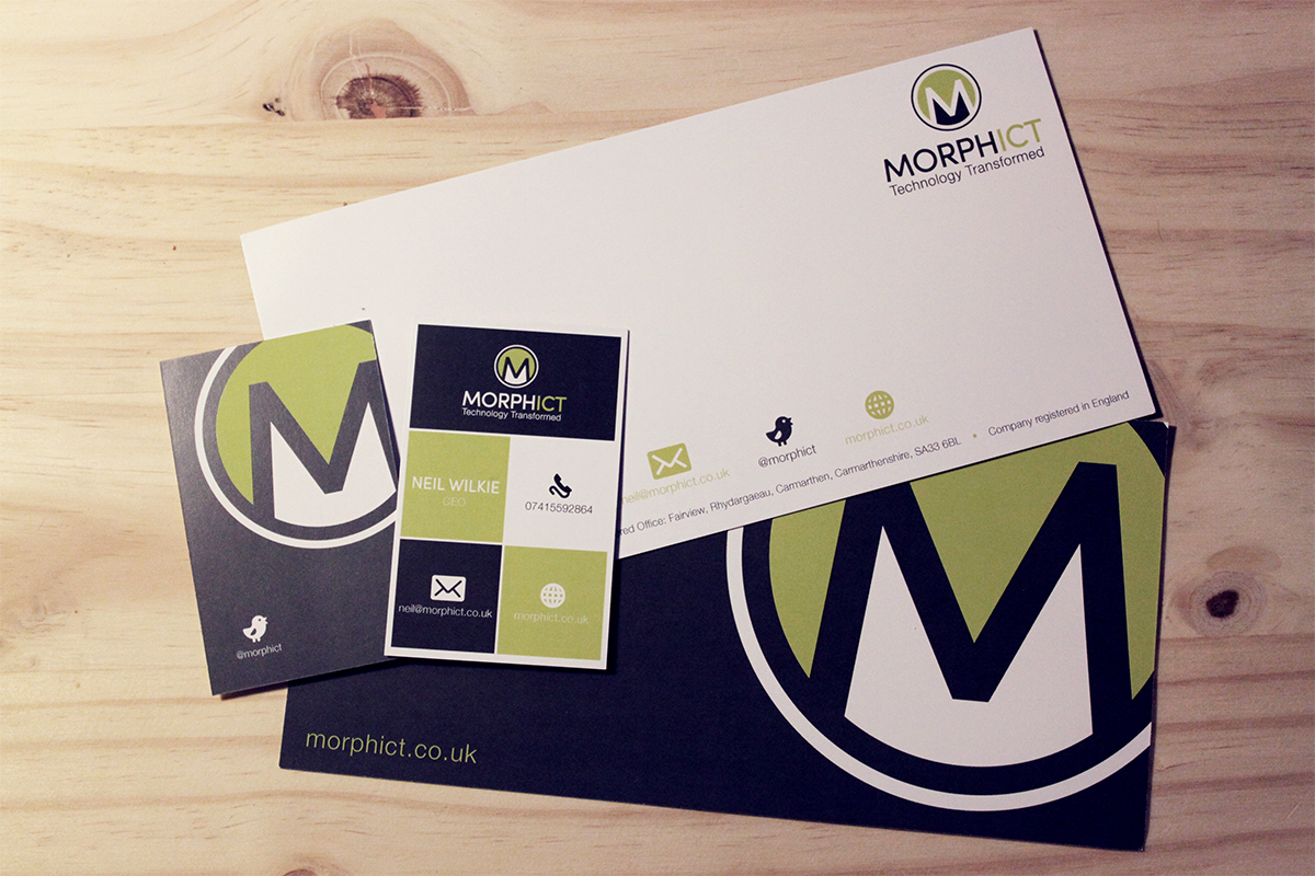 Morph comp slips and business cards