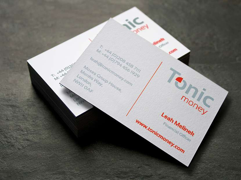 Tonic Money Business Cards