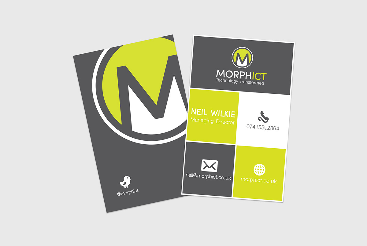 morph ict business cards