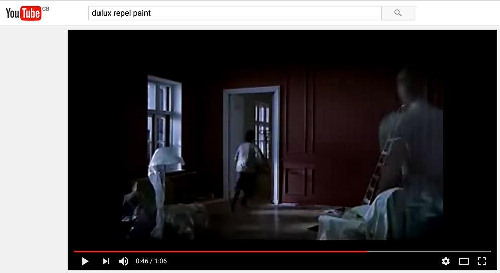 you tube marketing dulux paint
