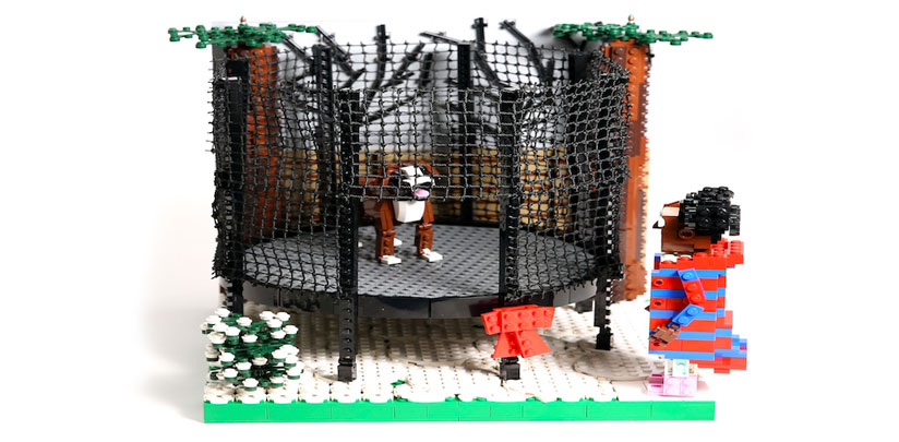 christmas advertising buster the dog lego