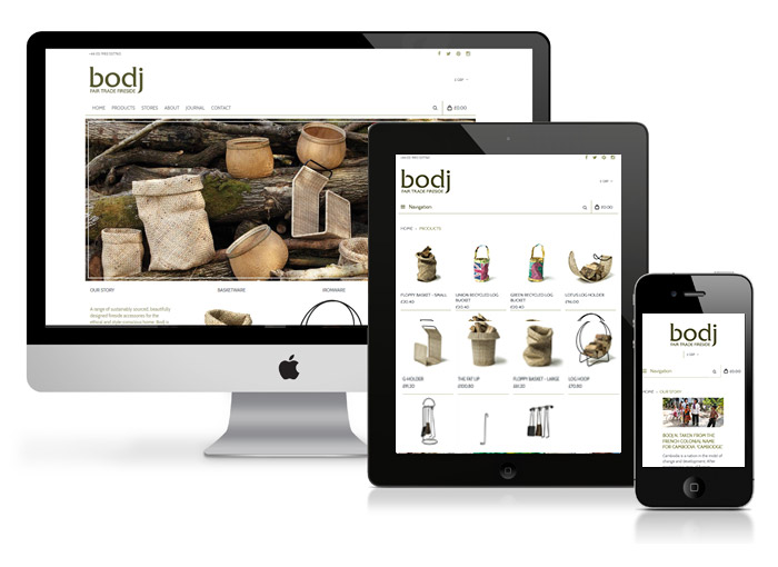 bodj products website design brightbulb design